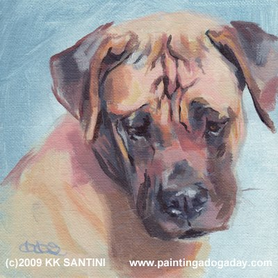 Painting a dog a day